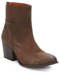 Steve Madden Sandyy Leather Ankle Boots - Lyst