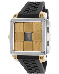Ritmo Mundo - Women's Puzzle Automatic Black Silicone And Dial Gold-tone Case - Lyst