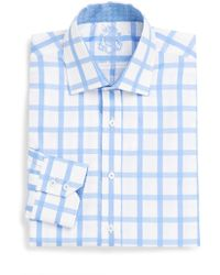 English Laundry Windowpane Cotton Dress Shirttrimfit - Lyst