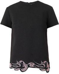 Christopher Kane Lace-hem Crepe Top - Lyst