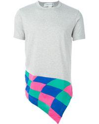 Comme des Garçons Patchwork Detail T-Shirt - Lyst
