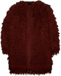 Isabel Marant Abella Fringed Silk Coat - Lyst