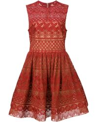 Elie Saab | Guipure Lace Skater Dress | Lyst