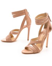 B Brian Atwood Lucila Strappy Sandals Light Pink - Lyst
