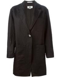 MM6 by Maison Martin Margiela Black Oversized Blazer - Lyst