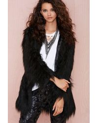 Nasty Gal Unreal Fur Wanderlust Faux Fur Coat - Lyst