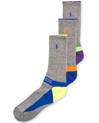 Ralph Lauren Polo Mens Athletic Crew Socks 3pack - Lyst