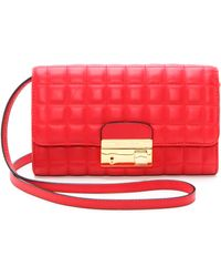 Michael Kors Collection Gia Clutch Scarlet - Lyst