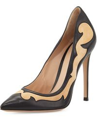 Gianvito Rossi Mixedleather Western Pump - Lyst