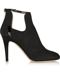 Jimmy Choo Livid Nubuck and Patentleather Ankle Boots - Lyst