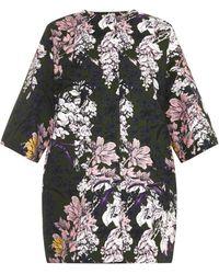 MSGM Floral-Print Woven Cotton Coat - Lyst