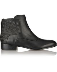 Pour La Victoire Keon Studded Leather Ankle Boots - Lyst