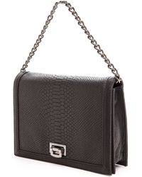 Linea Pelle Embossed Python Brooklyn Shoulder Bag - Black Python - Lyst