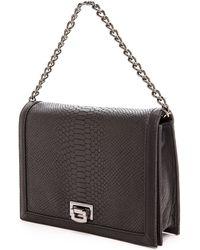 Linea Pelle Embossed Python Brooklyn Shoulder Bag - Black Python - Lyst