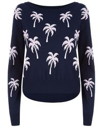 Juicy Couture Palm Tree Sweater - Lyst