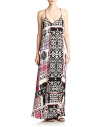 Felicite - Printed Racerback Maxi Dress - Lyst
