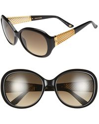 Gucci Women'S 56Mm 18K Gold Plate Gradient Sunglasses - Black/ Gold - Lyst