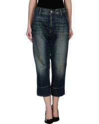 Plein Sud Jeanius Denim Trousers - Lyst