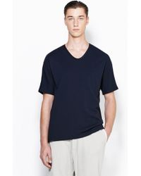 3.1 Phillip Lim Short Sleeve T-Shirt With Combo Binding - Lyst