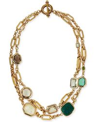 Stephen Dweck Two-strand Green Stone Necklace - Lyst