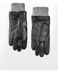 Mango   Wool-Blend Lining Leather Gloves   Lyst