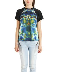 Theyskens' Theory 'Ballah Isobek' Print Silk Tee multicolor - Lyst