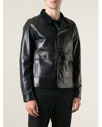 Valentino Funnel Neck Jacket - Lyst
