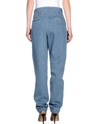 Balmain Denim Trousers blue - Lyst