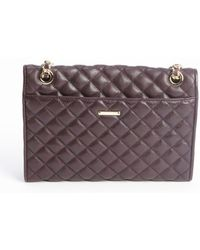 Rebecca Minkoff Black Cherry Quilted Leather Affair Braided Chain Shoulder Bag - Lyst