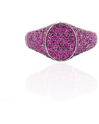Colette - Les Chevalieres Ring With Pink Sapphires - Lyst