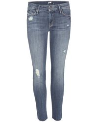 Mother The Looker Ankle Fray Jeans - Lyst