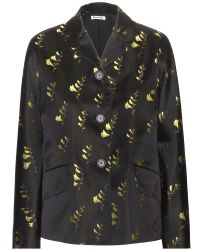 Miu Miu Embroidered Silk Jacket - Lyst
