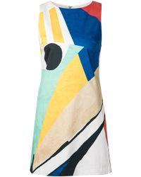 Alice + Olivia Colour Block Fitted Dress - Lyst