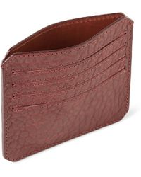 Parabellum Fullgrain Bison Leather Card Holder - Lyst