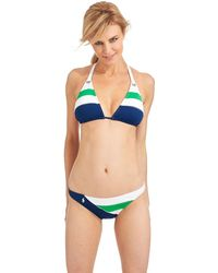 Ralph Lauren Blue Label Block Island Swim Triangle Halter Top - Lyst