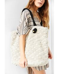 Ecote - Textured Weave Tote Bag - Lyst