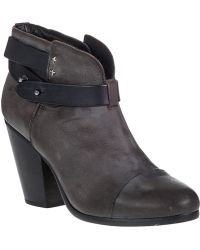 Rag & Bone Harrow Ankle Boot Stone Leather - Lyst