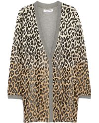 Elizabeth And James Oversized Leopardprint Cottonblend Cardigan - Lyst