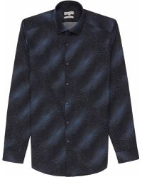 Reiss Orbit Contrast Print Shirt - Lyst