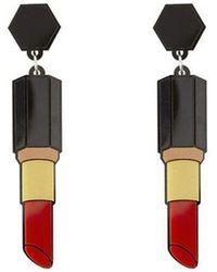 Yazbukey - Lipstick Earrings - Lyst