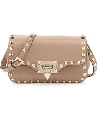 Valentino Rockstud Mini Leather Crossbody Bag - Lyst