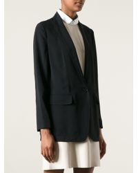 DKNY Sheer Back Blazer - Lyst
