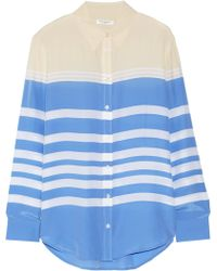Equipment Reese Clean Striped Washed-silk Shirt - Lyst
