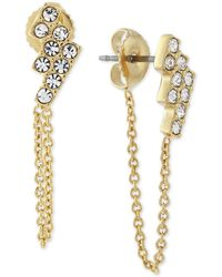 Vince Camuto - Crystal Cluster Chain Stud Earrings - Lyst