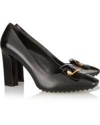 Tod's Safety Pinembellished Leather Pumps - Lyst