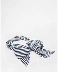Asos Stripe Print Headscarf - Lyst