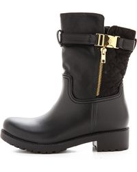 Dav Holloway Quilted Booties Black - Lyst