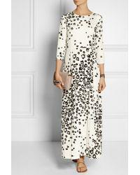 Sea Leo Printed Stretch-silk Maxi Dress - Lyst