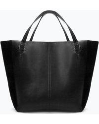 Zara Soft Shopper Bag - Lyst