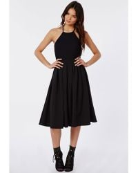Missguided Malou 50s Style Circle Midi Skirt Dress - Lyst